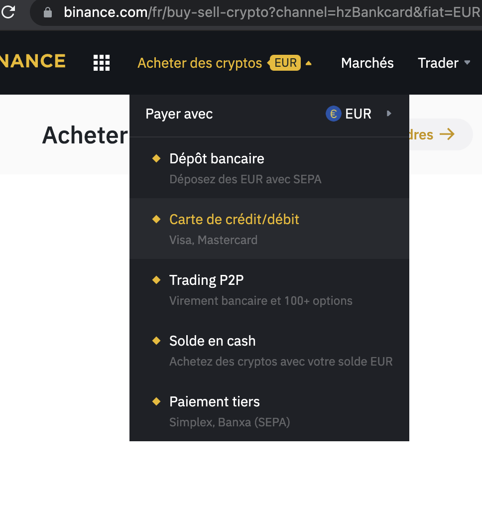 Acheter crypto