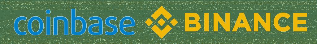 Logos Binance et Coinbase