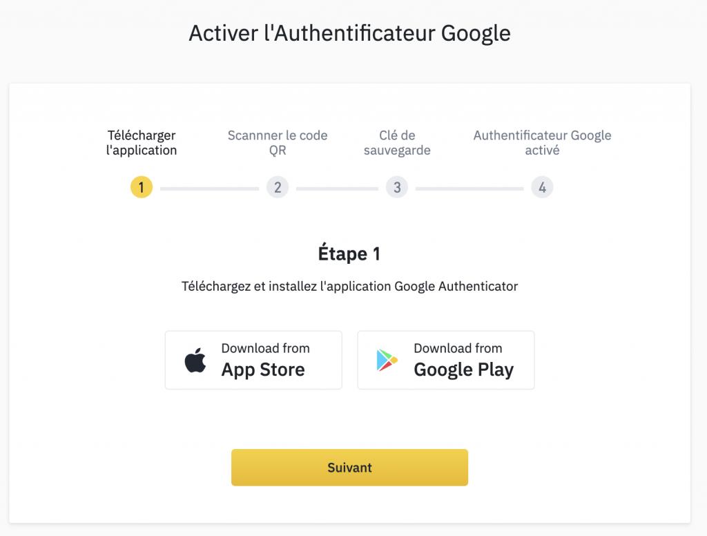activer google authenticator