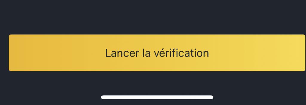 lancer la verification
